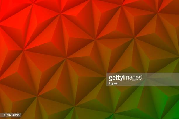 abstract geometric texture - low poly background - polygonal mosaic - red gradient - brown background stock illustrations