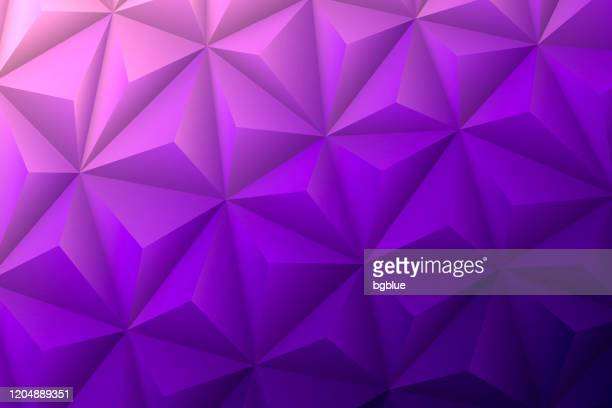abstract geometric texture - low poly background - polygonal mosaic - purple gradient - purple background stock illustrations