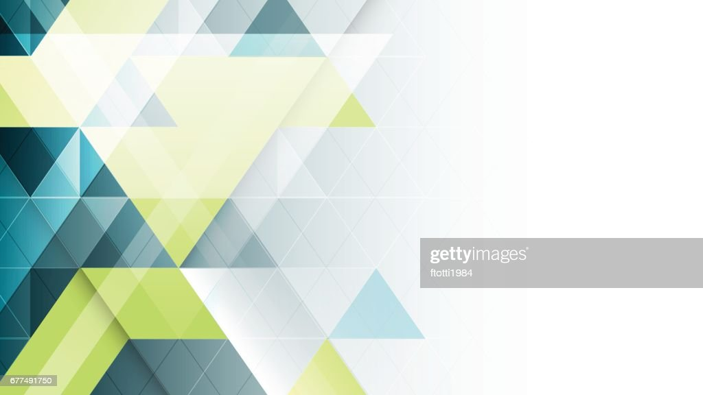 Abstract geometric vector banner.