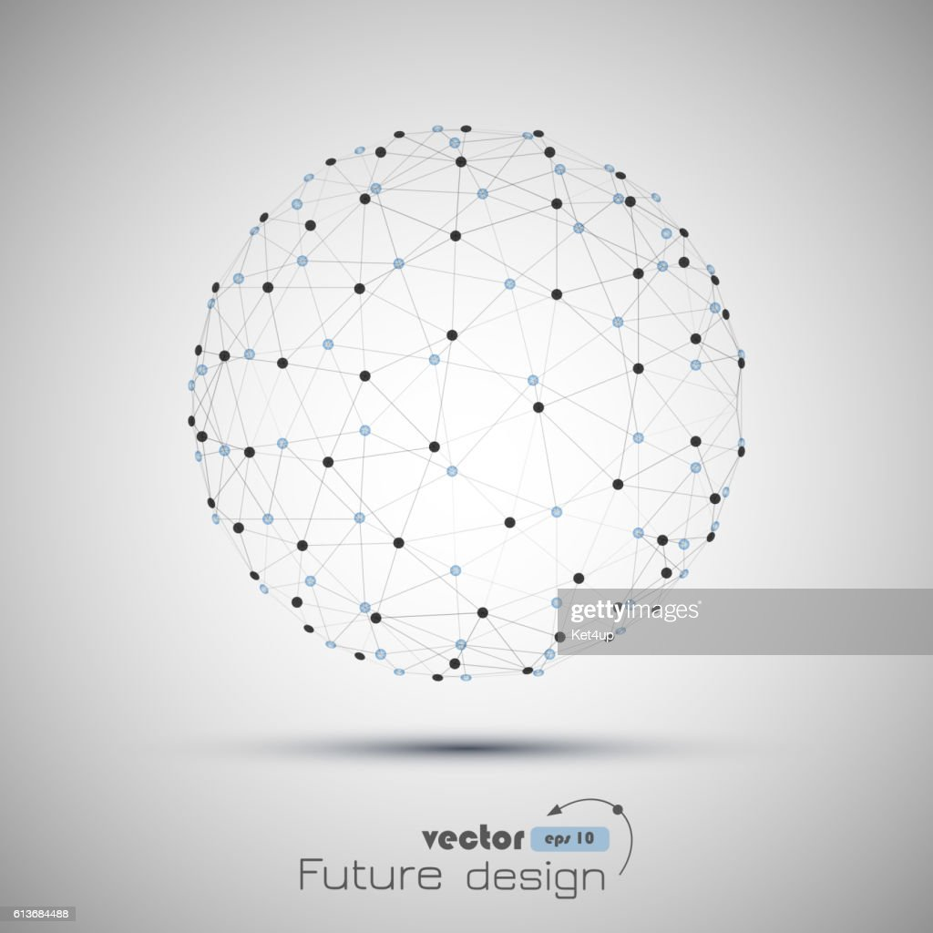 Abstract geometric vector sphere