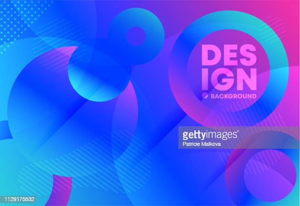 abstract geometry background with multi-layered effect and with circles - multiple exposure stock illustrations, clip art, cartoons, & icons