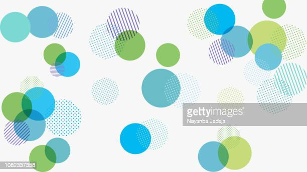 abstract geometry pattern background for design - circle stock illustrations