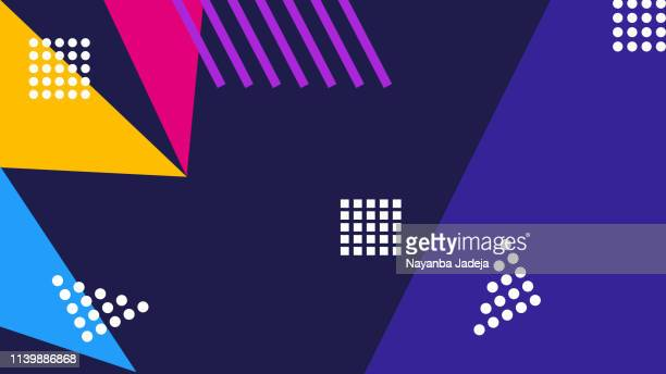 abstract geometry pattern background - modern art stock illustrations