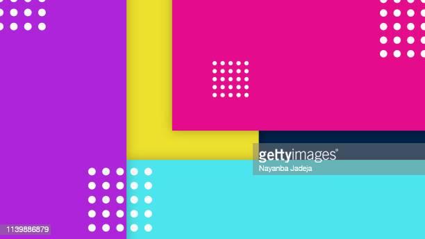 illustrazioni stock, clip art, cartoni animati e icone di tendenza di abstract geometry pattern background - alla moda