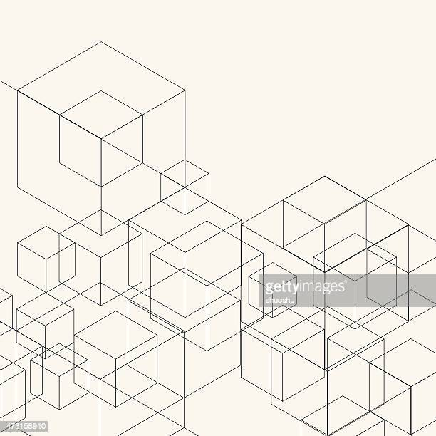 abstract geometry pattern background - square stock illustrations