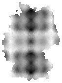 Abstract Germany map consisting of black dots / circles.