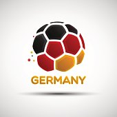 Abstract Germany soccer ball