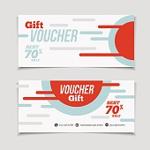Abstract gift voucher or coupon design template.