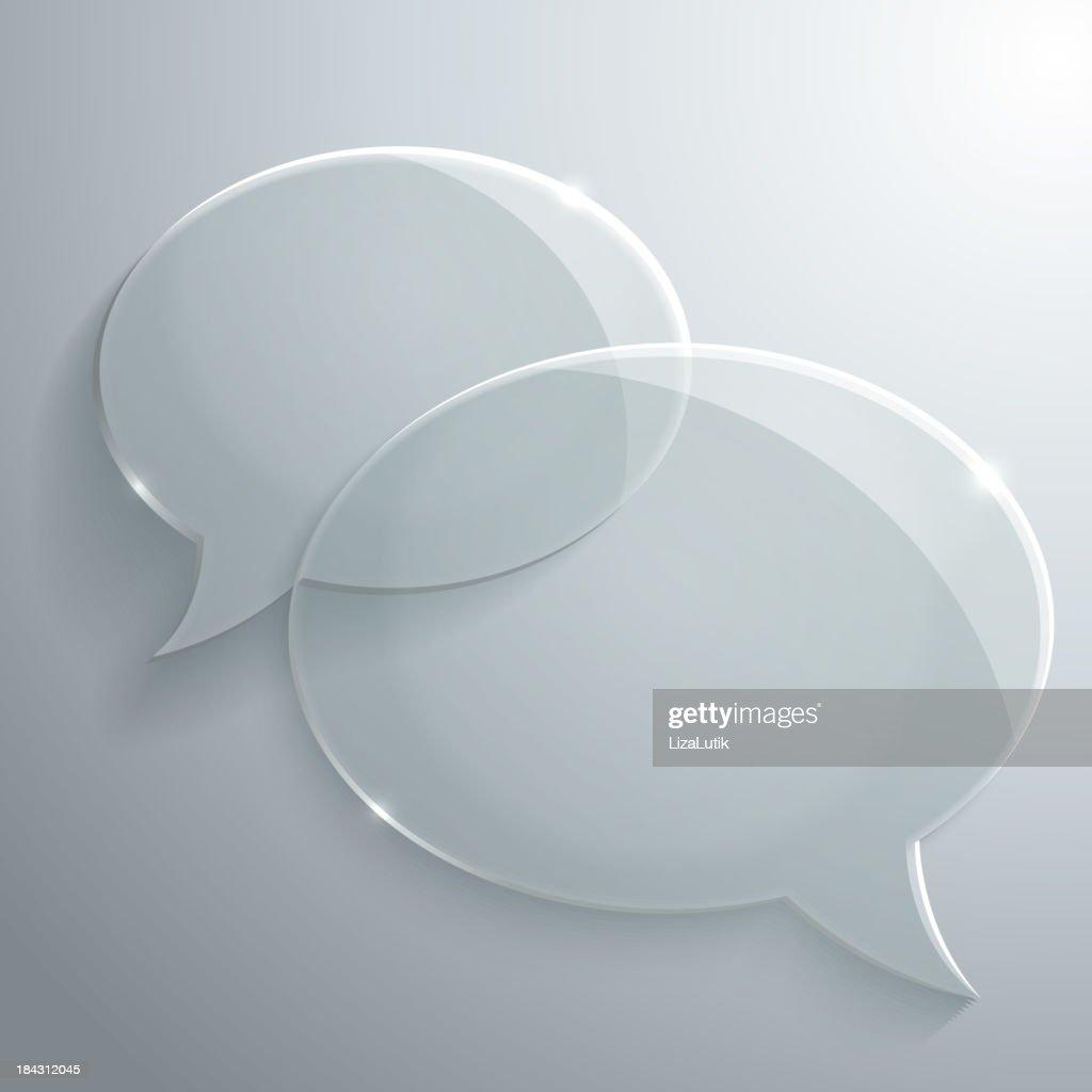 Abstract Glass Speech Bubble
