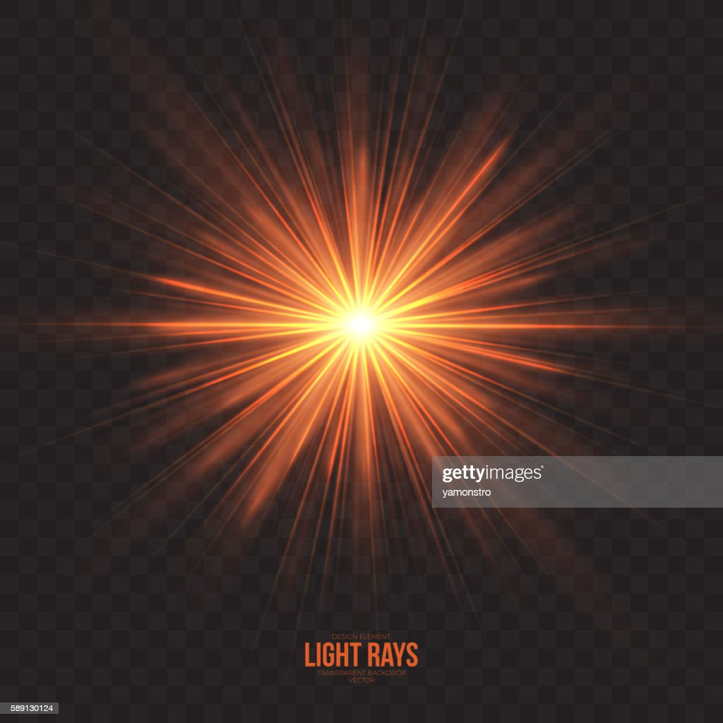 Abstract Gleaming Light Rays Vector Background