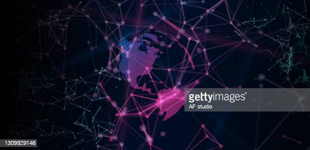 abstract global network background - af-studio stock illustrations