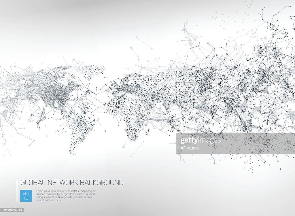 Abstrakte globales Netzwerk-Hintergrund : Stock-Illustration
