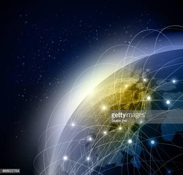 Abstraktes globales Netzwerk Hintergrund