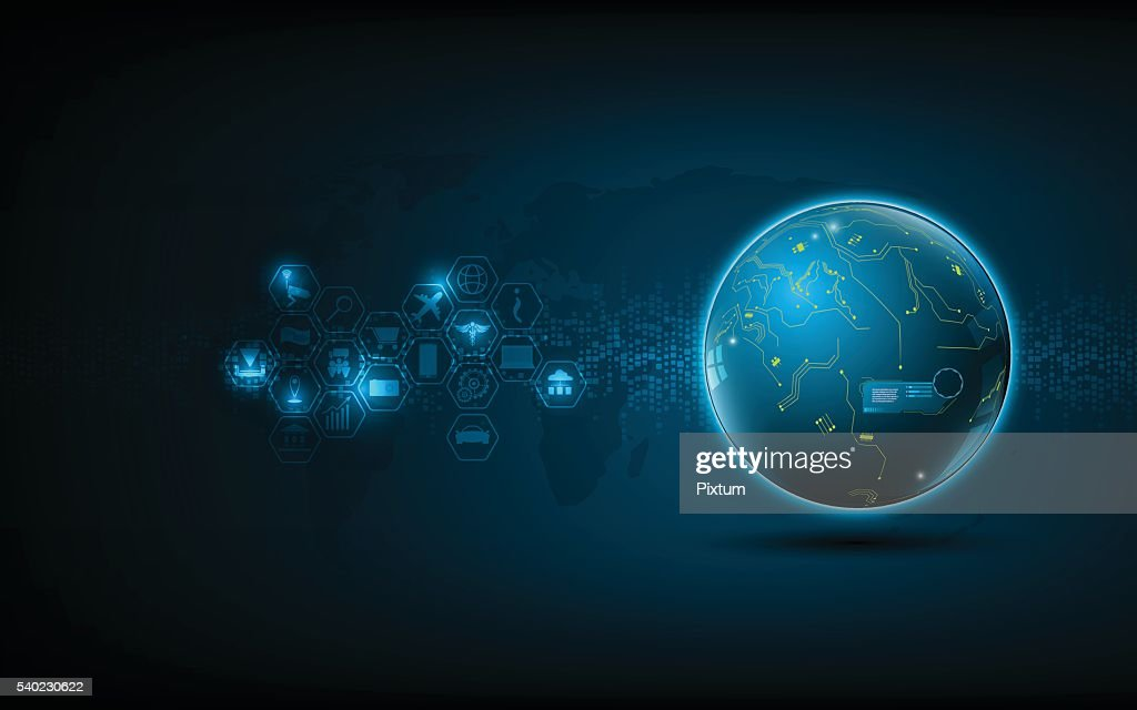 abstract global network technology innovation concept background