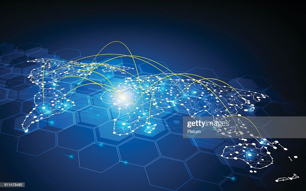 abstract global traffic design communication transport networking connection concept