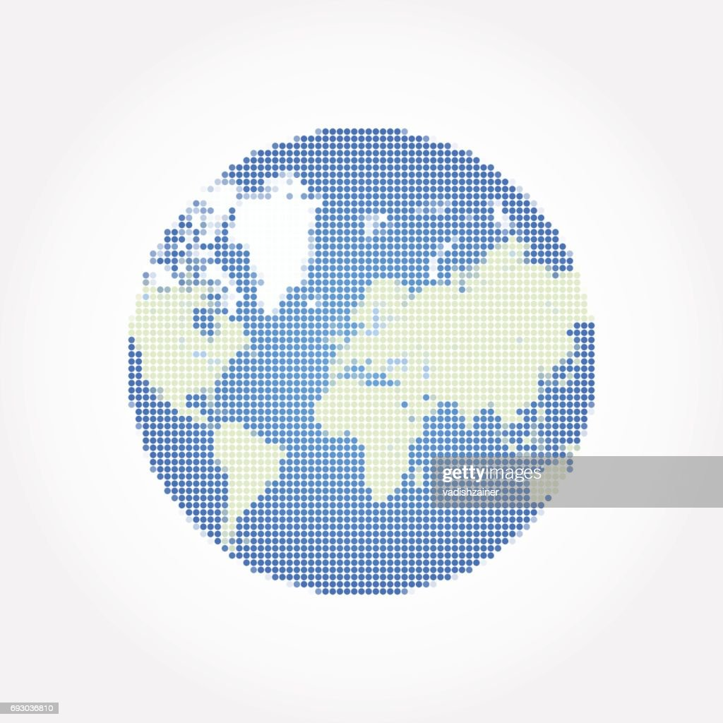 Abstract globe world map in a round dots flat vector illustration abstract globe world map in a round dots flat vector illustration eps 10 vector publicscrutiny Gallery
