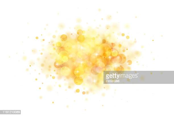 abstract glowing gold blob on white background - gold coloured stock illustrations