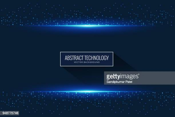 Abstract glowing light particle effect background