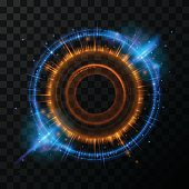 Abstract glowing rings