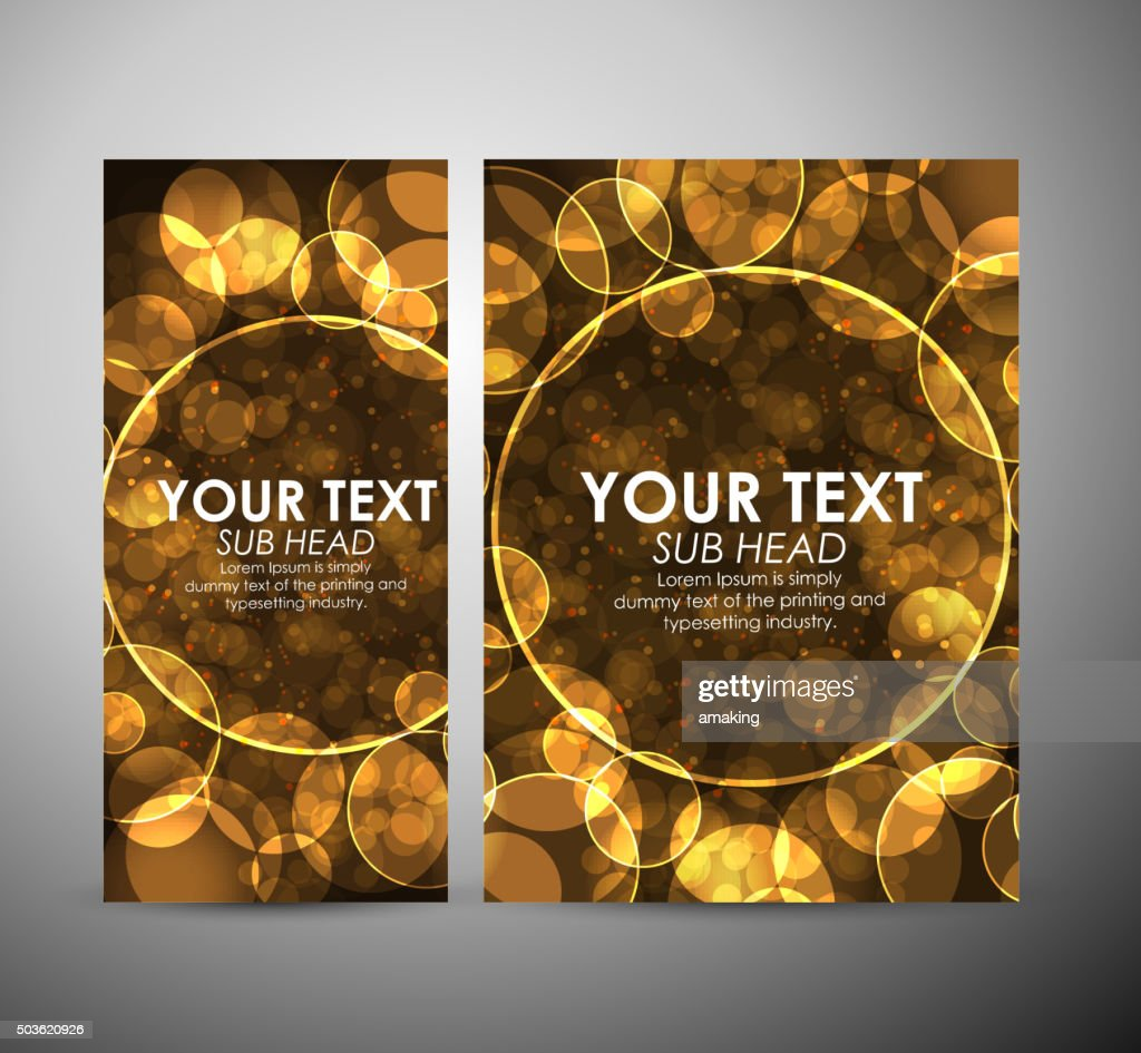 Abstract Gold Bokeh Graphic Resources Design Template Or Roll Up