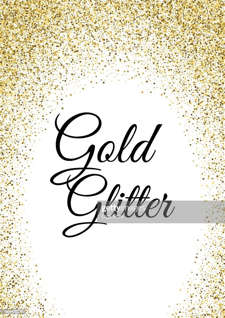 Abstract gold glitter template