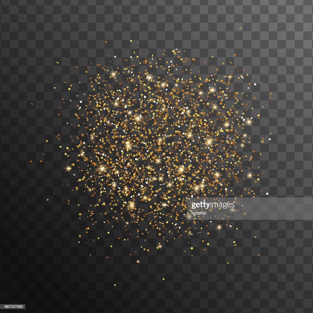 Abstract gold glittering overlay effect