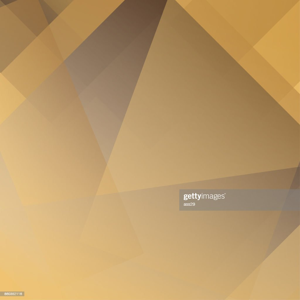Abstract golden and brown colors modern polygon overlap on background, Vector illustration
