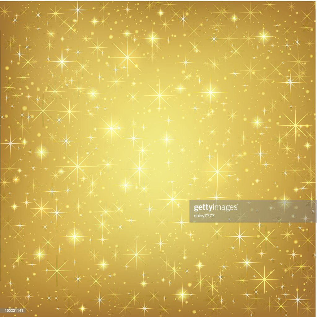 Abstract golden background stars