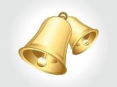 abstract golden bell