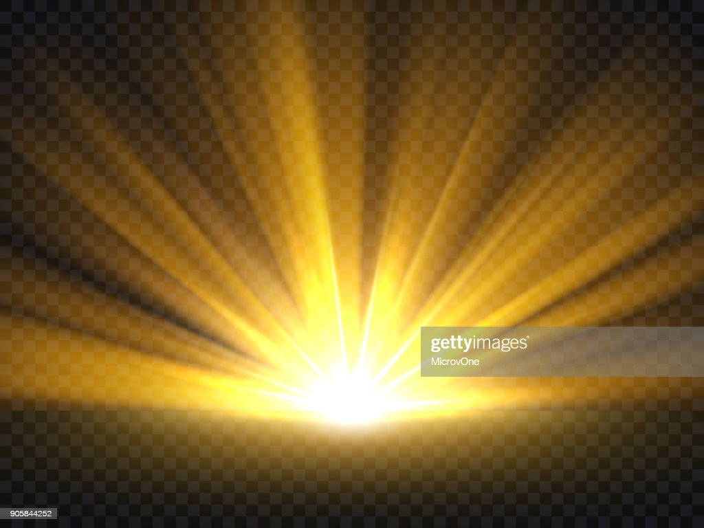 Abstract golden bright light. Gold shine burst vector illustration isolated