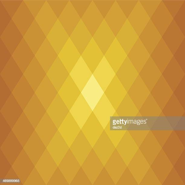 Abstract Golden Diamond Shaped Flare