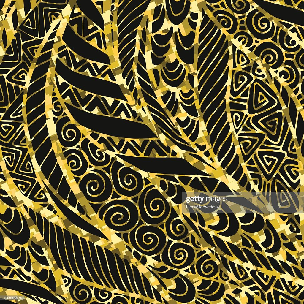 Abstract Golden floral background.