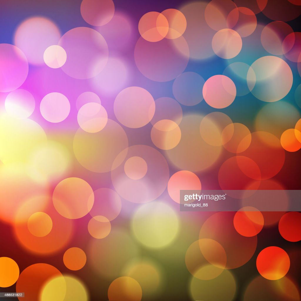 Abstract Golden Holiday Background bokeh effect