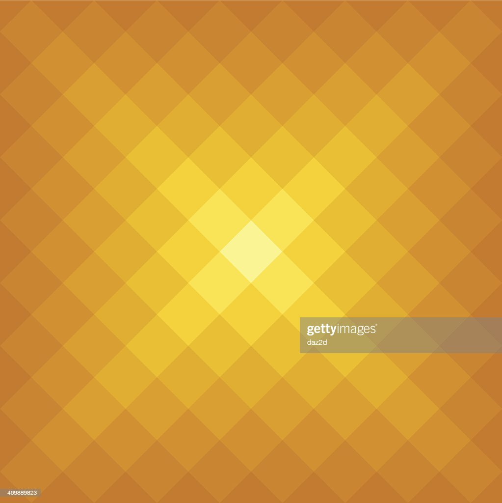 Abstract Golden Pixelated Flare