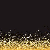 Abstract golden Valentine's Day background