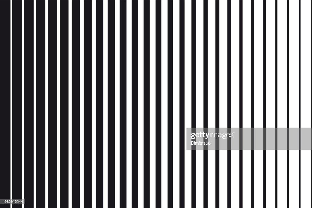 Abstrakte gradient Hintergrund der schwarzen und weißen parallele vertikale Linien : Stock-Illustration