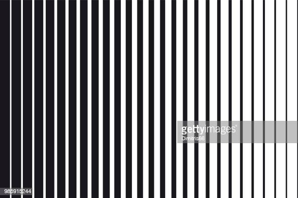 illustrazioni stock, clip art, cartoni animati e icone di tendenza di abstract gradient background of black and white parallel vertical lines - motivo ornamentale