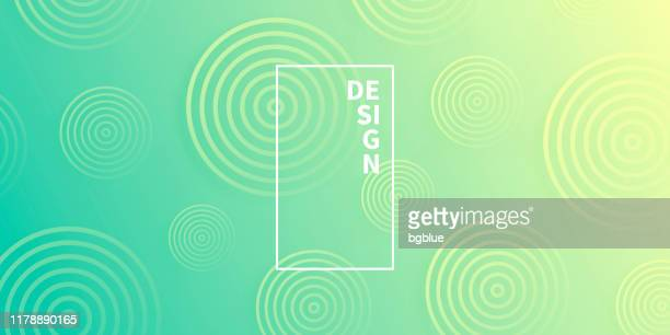 abstract gradient background with green circles - sports target stock illustrations