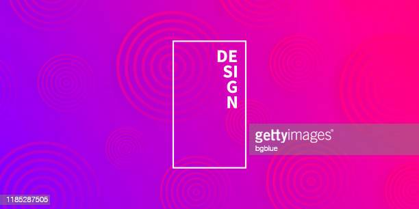 abstract gradient background with purple circles - pink and blue background stock illustrations