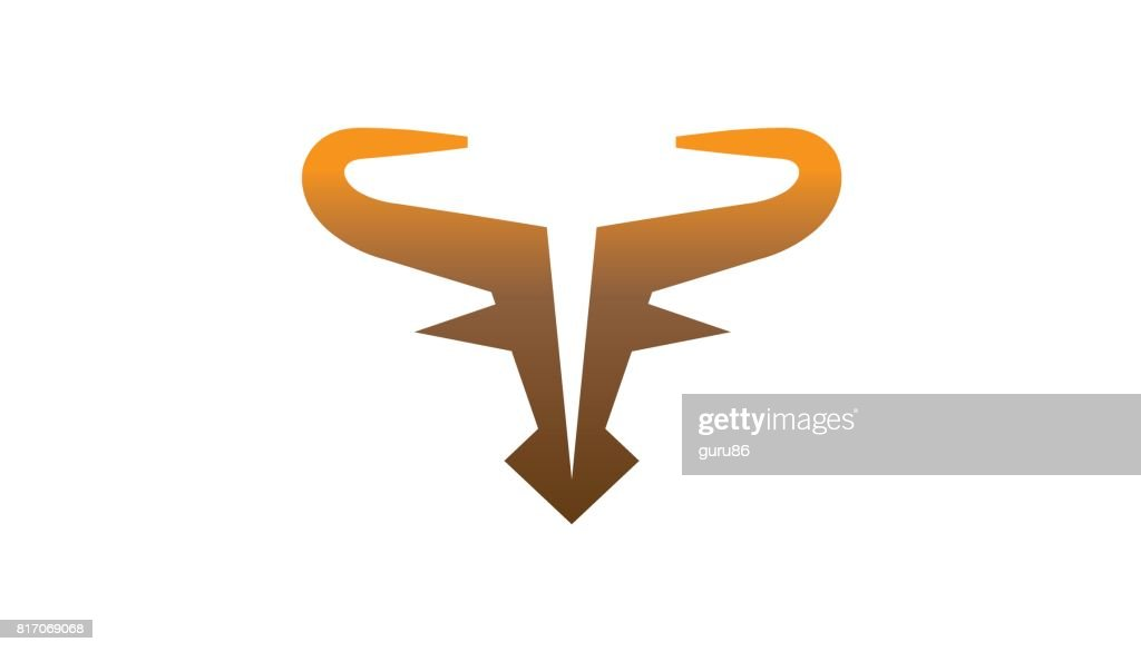 Abstract Gradient Bull Head Symbol Design