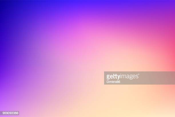 abstract gradient mesh background: dreamy dusk colors - dramatic sky stock illustrations