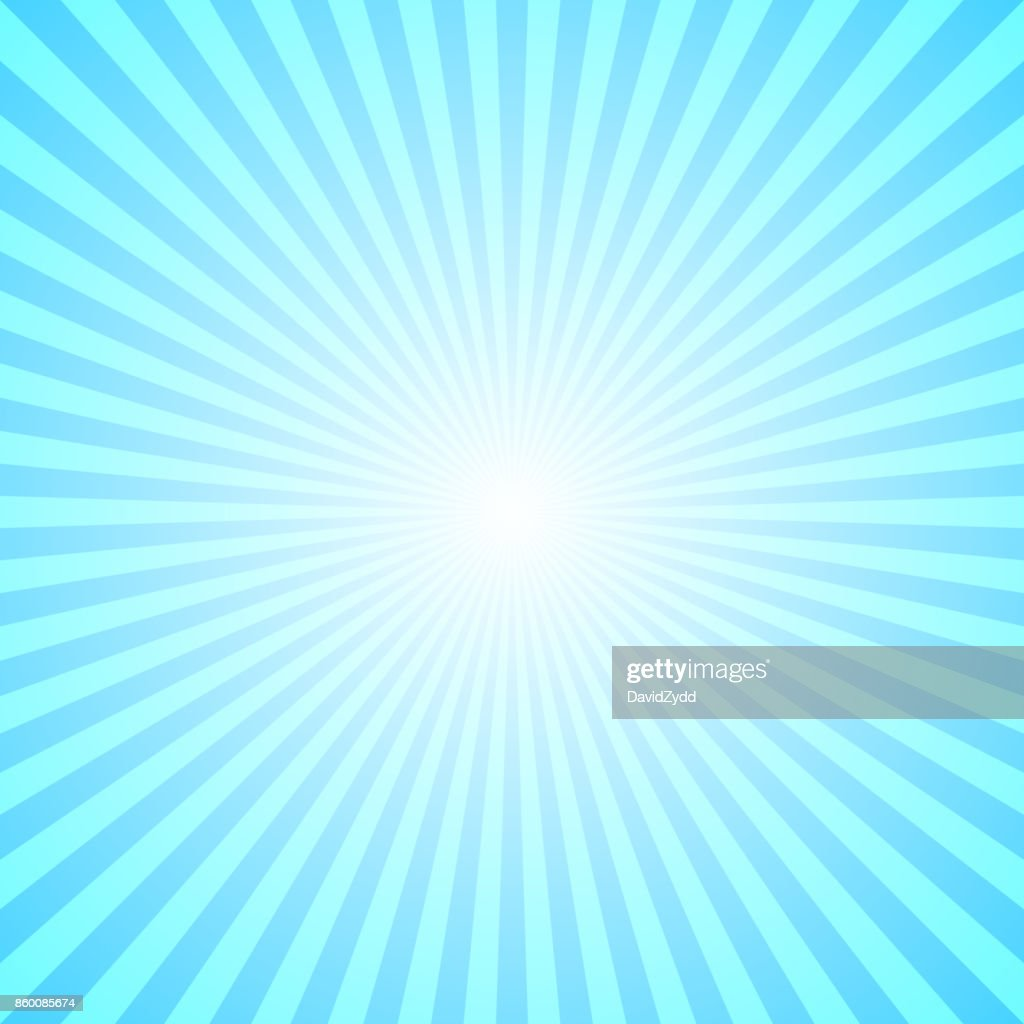 Abstract gradient ray burst background - comic graphic with radial stripe pattern