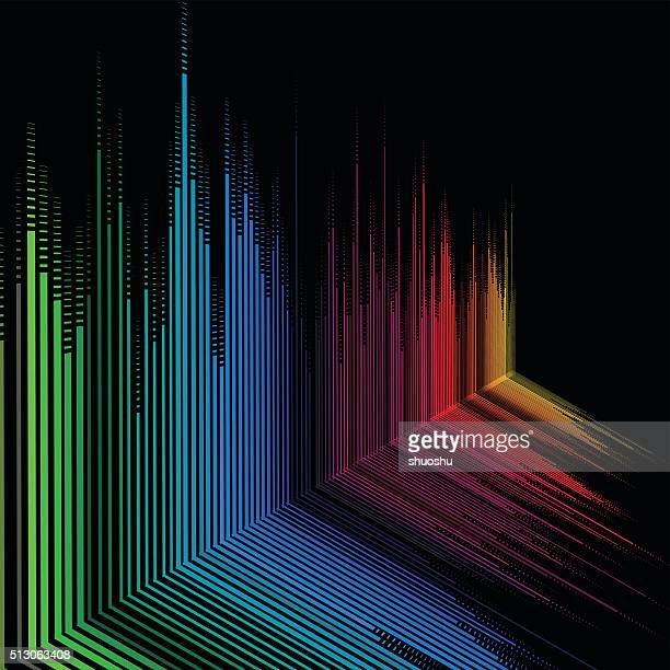 abstract gradient technology stripe pattern background
