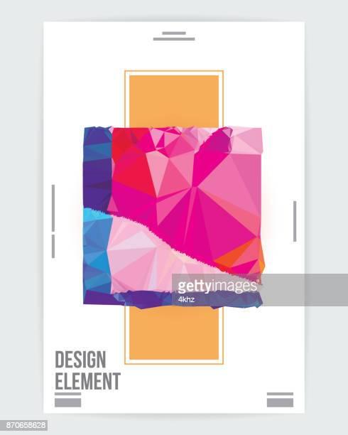 抽象的なグラフィック アート デザイン ポスター レイアウト