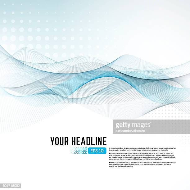 Abstract Graphic Wave Background