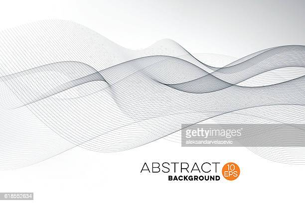 abstract graphic wave background - flowing stock illustrations