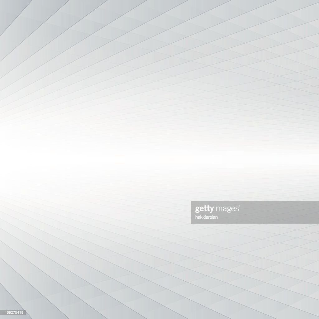 Abstract graphic with depth perspective in white & gray