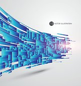 Abstract graphics, vector illustration.