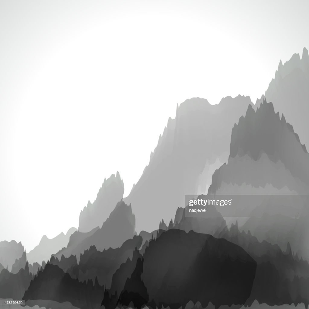 abstract gray chinese painting pattern background