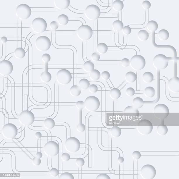 3 d の抽象的なグレイの回路ボードパターン背景 - 電子点のイラスト素材/クリップアート素材/マンガ素材/アイコン素材